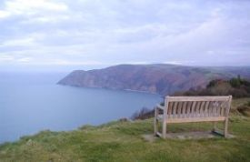 Foreland Point from Hollerday Hill above Lynton and Lynmouth