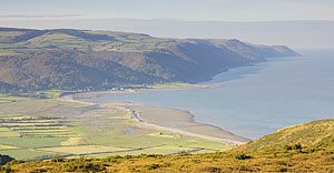 Porlock Bay and Foreland Point from the car park on Bossington Hill